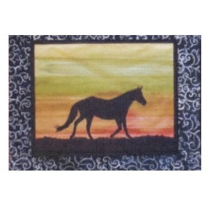 Quilting Sewing HORSE 5 Batik Quilt Pattern Kit including Fabric