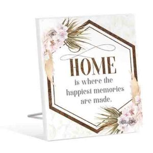 French Country Wooden Sign Bismark HOME MEMORIES Plaque