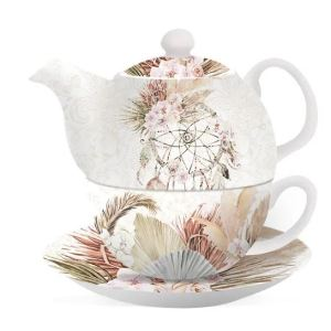 French Country Lovely Teapot BISMARK TEA FOR ONE Cup and Saucer