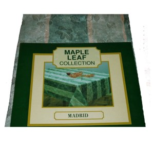 Country Table Cloth MAPLELEAF MADRID GREEN Tablecloth RECT 150x260cm
