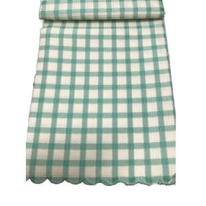 Country Table Cloth TARA GREEN CHECK Tablecloth ROUND 180cm