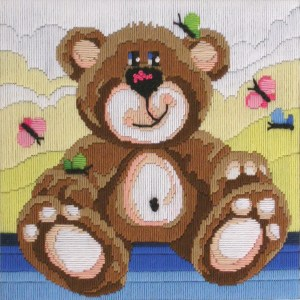 Country Threads Long Stitch Kit NURSERY BEAR FLS-103 Inc Threads