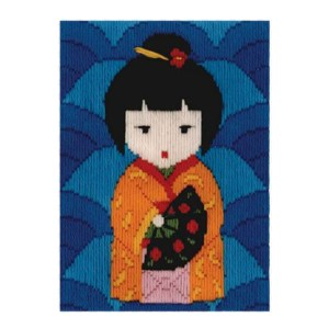 BEUTRON Long Stitch Kit Kids Beginner JAPANESE DOLL 579876