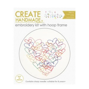 Create Handmade Embroidery HEARTS Hand Stitching with Hoop