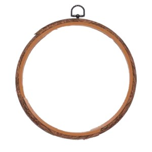 Create Handmade Med Hoop for Cross Stitch Embroidery 20cm Woodgrain