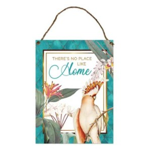 Country Metal Tin Sign Wall Art Lush NO PLACE LIKE HOME Plaque