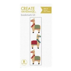 Create Handmade Cross Stitch Bookmark Kit Beginner LLAMAS 20x5cm