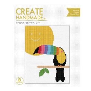 Create Handmade Cross Stitch Kit Beginner TOUCAN 15x19cm