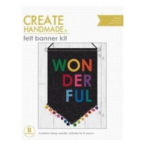 Create Handmade Hand Stitching Felt Banner Kit WONDERFUL 20x30cm