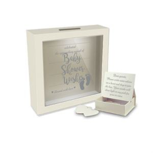 Decorative Card Wishing Well BABY SHOWER WISHES Box with Heart Messages