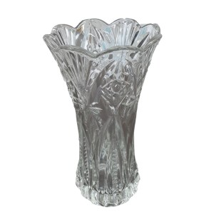 Cut Glass 8 Inch Decorative Flower Vase