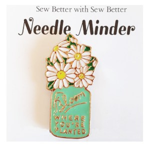 Sew Better Cross Stitch Needle Minder Keeper BLOOM DAISYS