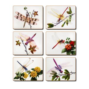Kitchen DELICATE WINGS Cinnamon Cork Backed Placemats Set 6