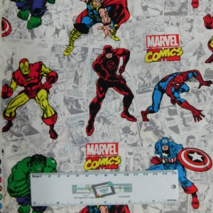 Quilting Patchwork Fabric MARVEL COMICS Sewing 50x55cm FQ