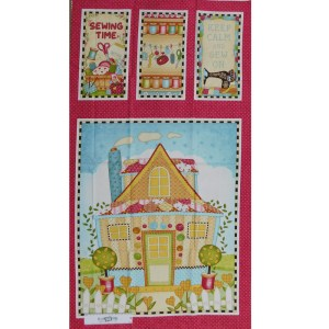 Patchwork Quilting Sewing Fabric SEW LETS STITCH Panel 61x110cm