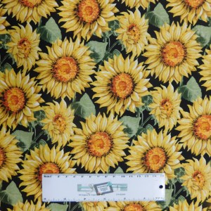 Quilting Patchwork Fabric SUNFLOWERS Allover 50x55cm FQ