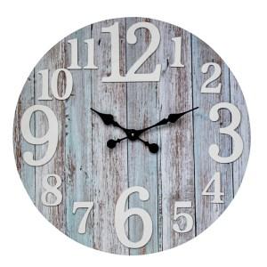 Clocks Wall Hanging Ocean Drift Clock White Numbers 70cm Large
