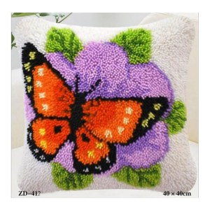 Crafting Kit Latch Hook with Canvas Hook and Threads BUTTERFLY