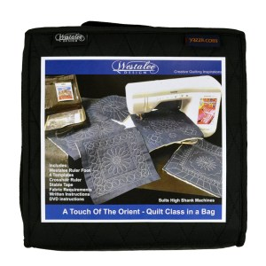 Quilting Patchwork Templates High Shank WESTALEE ORIENT Quilt Class in a Bag
