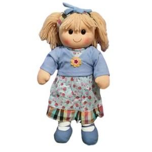 Hopscotch Lovely Soft Rag Doll BLUEBELL Girl Dressed Doll Large 35cm