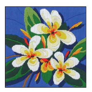 Country Threads Long Stitch Kit FRANGIPANIS FLS-102 Inc Threads