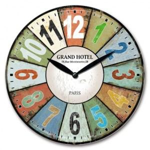 Clock Wall Hanging GRAND HOTEL SEGMENTS Clocks 29cm