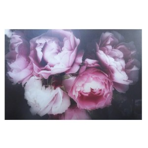 French Country Canvas Print MIDNIGHT FLORAL ROSE 1 60x90cm