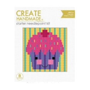 CREATE HANDMADE Needlepoint Kit Kids CUPCAKE 15x15.5cm