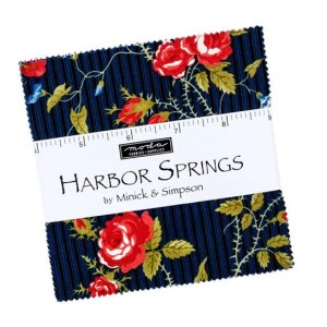 Quilting Charm Pack Patchwork MODA HARBOR SPRINGS 5 Inch Sewing Fabrics