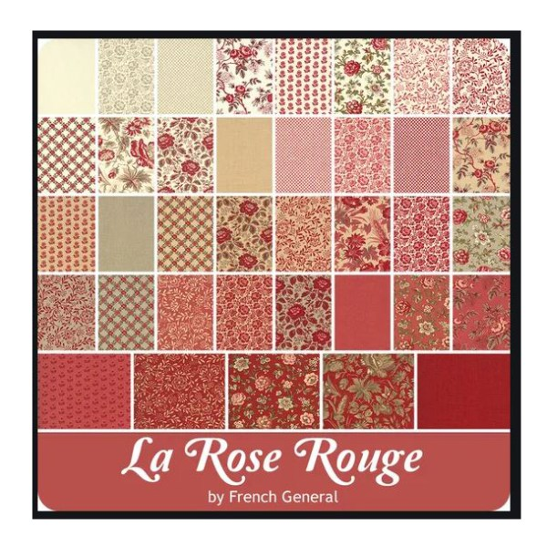 Quilting Jelly Roll Patchwork MODA LA ROSE ROUGE 2.5 Inch Sewing Fabrics