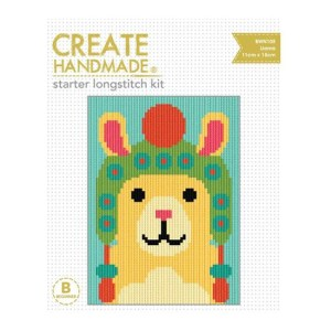 CREATE HANDMADE Long Stitch Kit Kids Beginner LLAMA 15x11cm