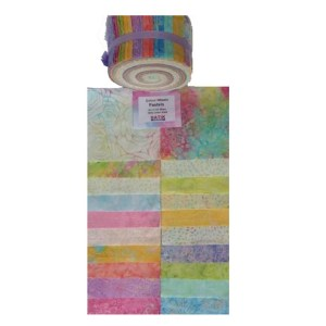 Quilting Jelly Roll Patchwork Batik Australia PASTEL 2.5 Inch Sewing Fabric