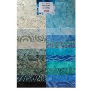 Quilting LAYER CAKE Patchwork Batik Australia SEA SPRAY 10 Inch Fabrics