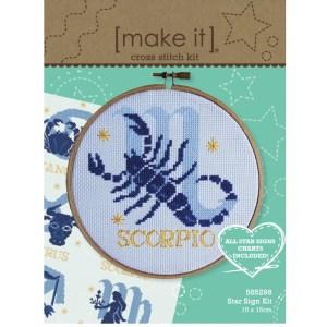 Make It Cross X Stitch Kit STAR SIGNS 15x15cm Incl ALL Signs 585298