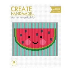CREATE HANDMADE Long Stitch Kit Kids WATERMELON 15x11cm