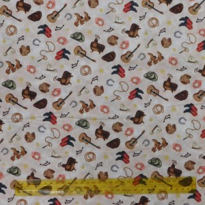 Quilting Patchwork Fabric COWGIRL ESSENTIALS 50x55cm FQ Material