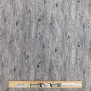 Quilting Patchwork Fabric GREY FLOORBOARDS 50x55cm FQ Material