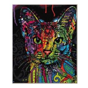 Cross Stitch Kit COLORFUL CAT X Stitch Joy Sunday Incl Threads