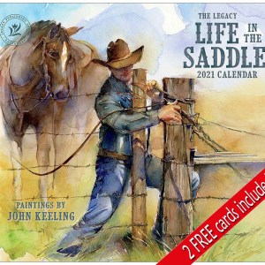 2021 Legacy Calendar LIFE IN THE SADDLE Calender Fits Lang Wall Frame