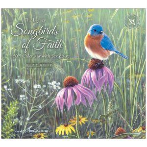 Legacy 2021 Calendar SONGBIRDS OF FAITH Calender Fits Lang Wall Frame