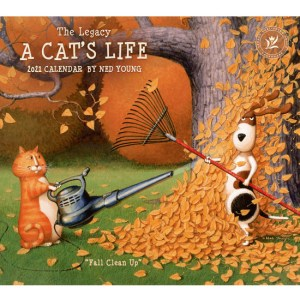 2021 Legacy Calendar A CATS LIFE Calender Fits Lang Wall Frame