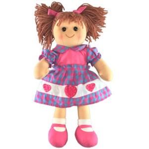 Hopscotch Lovely Soft Rag Doll ABIGAIL Girl Dressed Doll Large 35cm