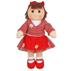 Hopscotch Lovely Soft Rag Doll BELLA Girl Dressed Doll Large 35cm