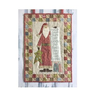 The Birdhouse Designs Sewing SANTAS CHECKLIST Wallhanging Pattern