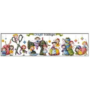 Cross Stitch Kit CRAFT VILLAGE X Stitch Joy Sunday Incl Threads