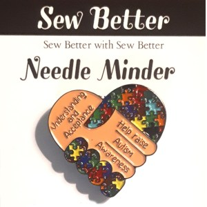 Sew Better Cross Stitch Needle Minder Keeper AUTISM AWARENESS