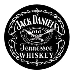 Clock French Country Wall Small Clocks 17cm JACK DANIELS ALCOHOL
