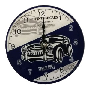 Clock French Country Wall Small Clocks 17cm VINTAGE CARS CLASSICS