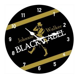 Clock French Country Wall Clocks 17cm JOHNNY WALKER BLACK Small