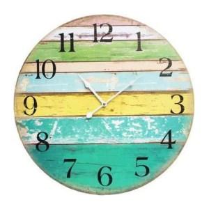 Clocks Wall Hanging Rustic Citrus Boards 58cm Clock Large Numbers